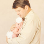 newborn baby with dad