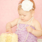 Birthday-Cake-Session-Romper-Pearls-Santa-Monica-Photographer