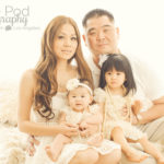 Best-Family-Photographer-Culver-City-Mar-Vista-Girls-Styled-Sitting-On-Bed-Wearing-White