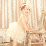 Best-Styling-One-Year-Old-Cake-Smash-Girl-Studio-Session-Lace-Tutu-Pearls-Pod-Glow-Paris-Set-Sparkle-Sequins-Girly-Santa-Monica-Baby-Photographer