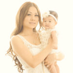 Mom-And-Daughter-Dressed-In-White-Styled-Beautiful-Family-Baby-Photography-Studio-Venice-Beach