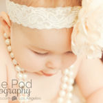 Best-Baby-Portrait-Studio-Los-Angeles-Cute-Eyelashes-Shot-Pearls-Headband