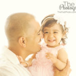 Best-Family-Portrait-Photographer-Daddy-Daughter-Kisses-Nuzzle-Sweet-Smiles-Laughing-Baby-Girl-White-Window-Glow-Manhattan-Beach
