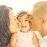 Best-Family-Portrait-Photographer-Kissing-Baby-On-Cheek-Smile-Smiling-Venice-Beach