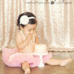 Best-First-Birthday-Cake-Smash-Photographer-Los-Angeles-Portrait-Studio-Tutu-Pink-SmashCake-Susiecakes-Headband-Pearls-Sequins-Girly-Styling