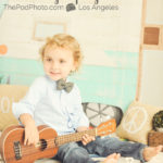 Bohemian-Camper-Set-Love-Peace-Music-Vintage-Beach-Summer-Baby-Kids-Photography-Studio-Santa-Monica-Ukulele-Bowtie-Styled-Boy
