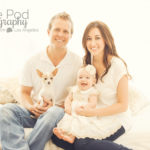 Family-With-Doggy-Bed-In-Window-Casual-Cute-Baby-Photography-Studio