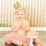 Best-Photographer-Los-Angles-Santa-Monica-Cake-Smash-First-Birthday-One-Year-Old-Baby-Portrait-Studio-Pink-Gold-Tutu-Crown-Pearls-SusieCakes