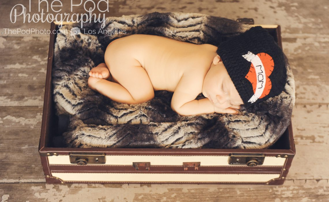 mom hat newborn baby edgy rocker photo styling inspiration los angeles