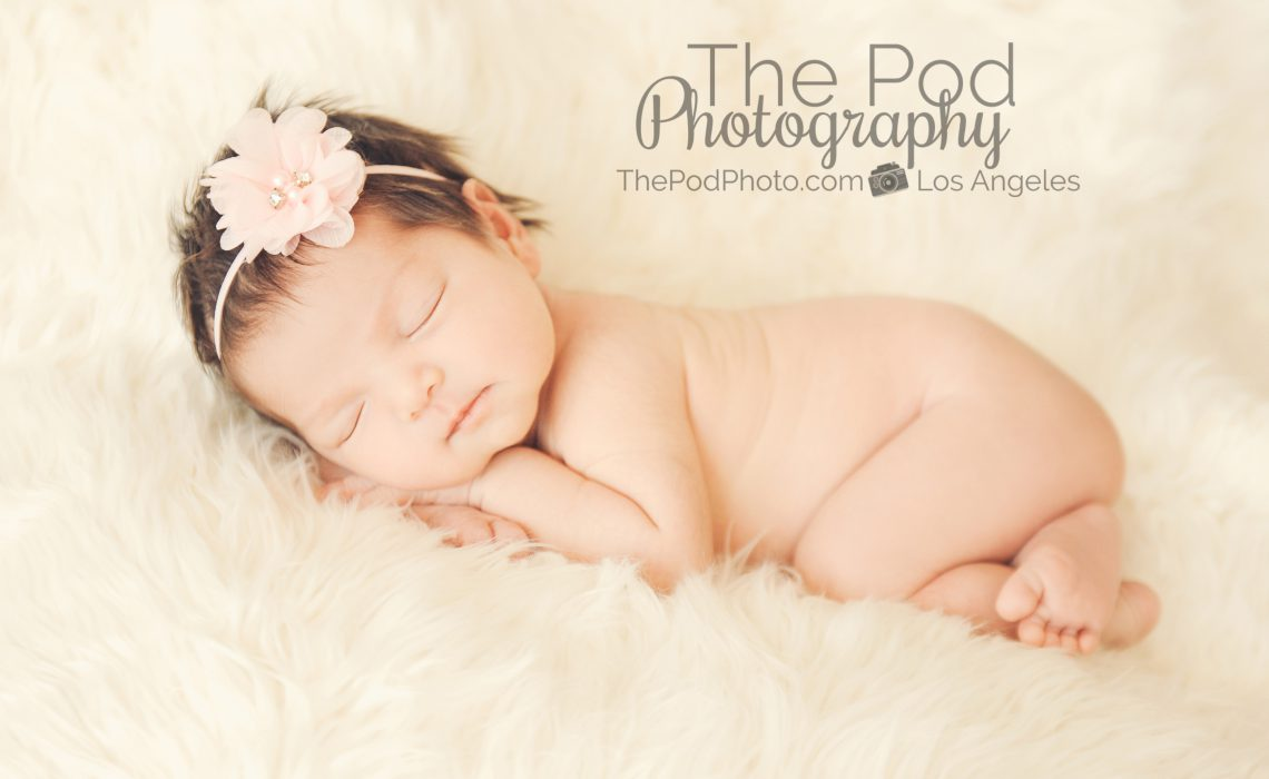 classic and simple newbonr baby photography