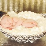 glamour gold headband for a newborn baby