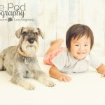 One-Year-Old-Baby-Boy-With-Dog-Photo-In-Studio-Culver-City