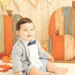 Halloween-Fall-Portraits-Pumpkin-Set-Baby-Boy-Los-Angeles-Photographer-Flags-Custom-Studio-Sets