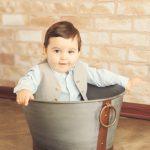 Baby-In-A-Bucket-Manhattan-Beach-Baby-Photographer-Urban-Brick-Background-Vest-Cute-Styled