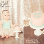Best-First-Birthday-Cake-Smash-Photographer-Brentwood-Oink-And-Teal-Pearls-Sequins-Gold-Sparkle-SusieCakes