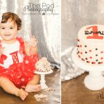 Best-First-Birthday-Cake-Smash-Photography-Venice-Beach-Party-Theme-Mini-Mouse-Mickey-Red-Black-White-Polka-Dots-Silver-Sequins-SusieCakes
