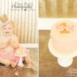 Classic-Girly-Cake-Smash-First-Birthday-Photographer-Pacific-Palisades-One-Year-Old-Photographs-Pink-And-Gold-Crown-Sequins-SusieCakes