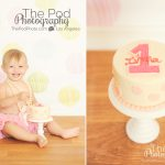 Best-First-Birthday-Photographer-Beverly-Hills-Cake-Smash-SusieCakes-Polka-Dots-Multi-Colored-Pink-White-Tutu-Fun