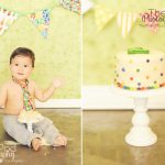 Best-Cake-Smash-Photographer-Marina-Del-Rey-One-Year-Old-First-Birthday-SusieCakes-Hungry-Caterpillar-Theme-Green-Custom-Session-Tie
