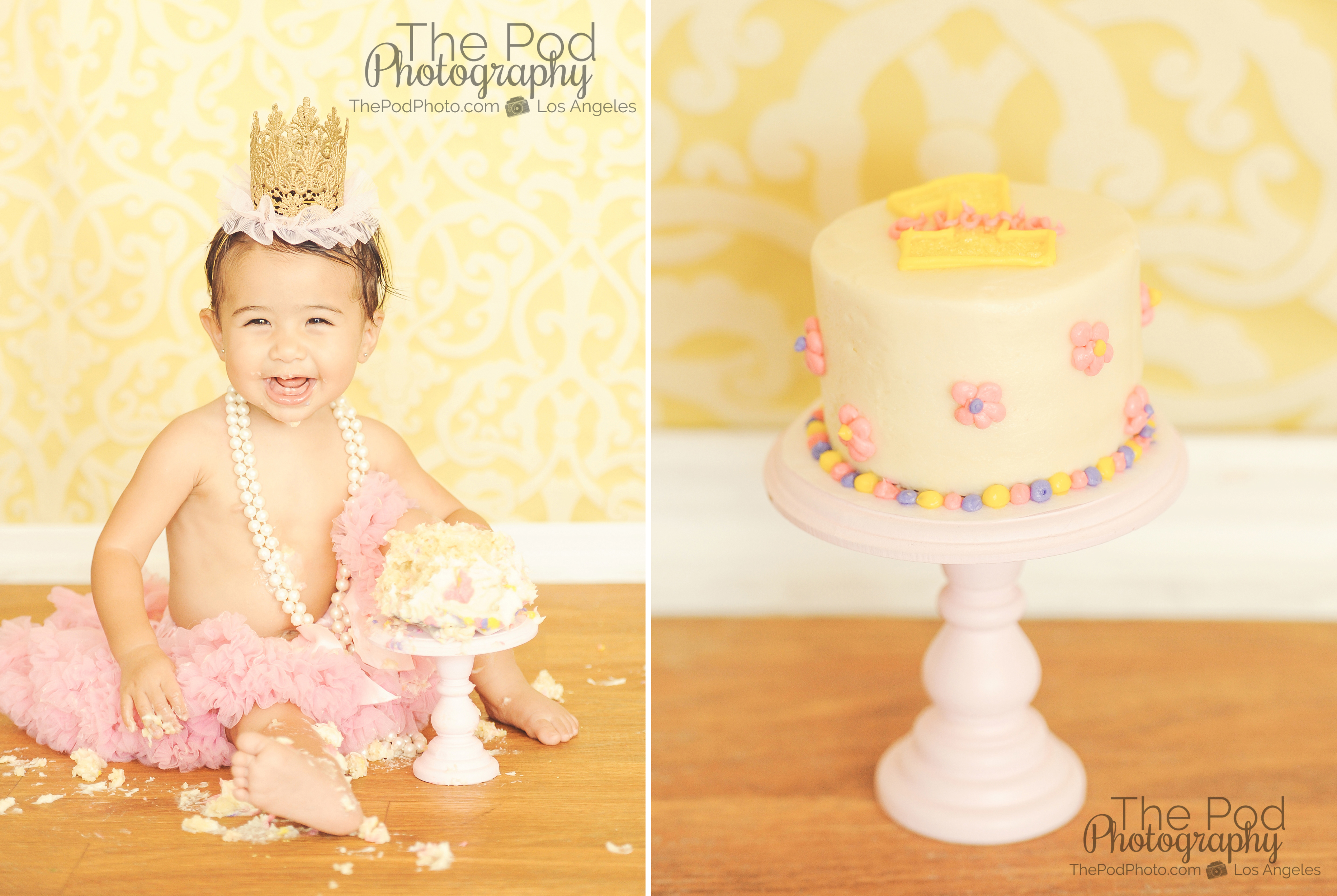 Korean First Birthday Cake Smash Photography Brentwood Baby