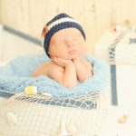 Nautical newborn baby boy photo shoot