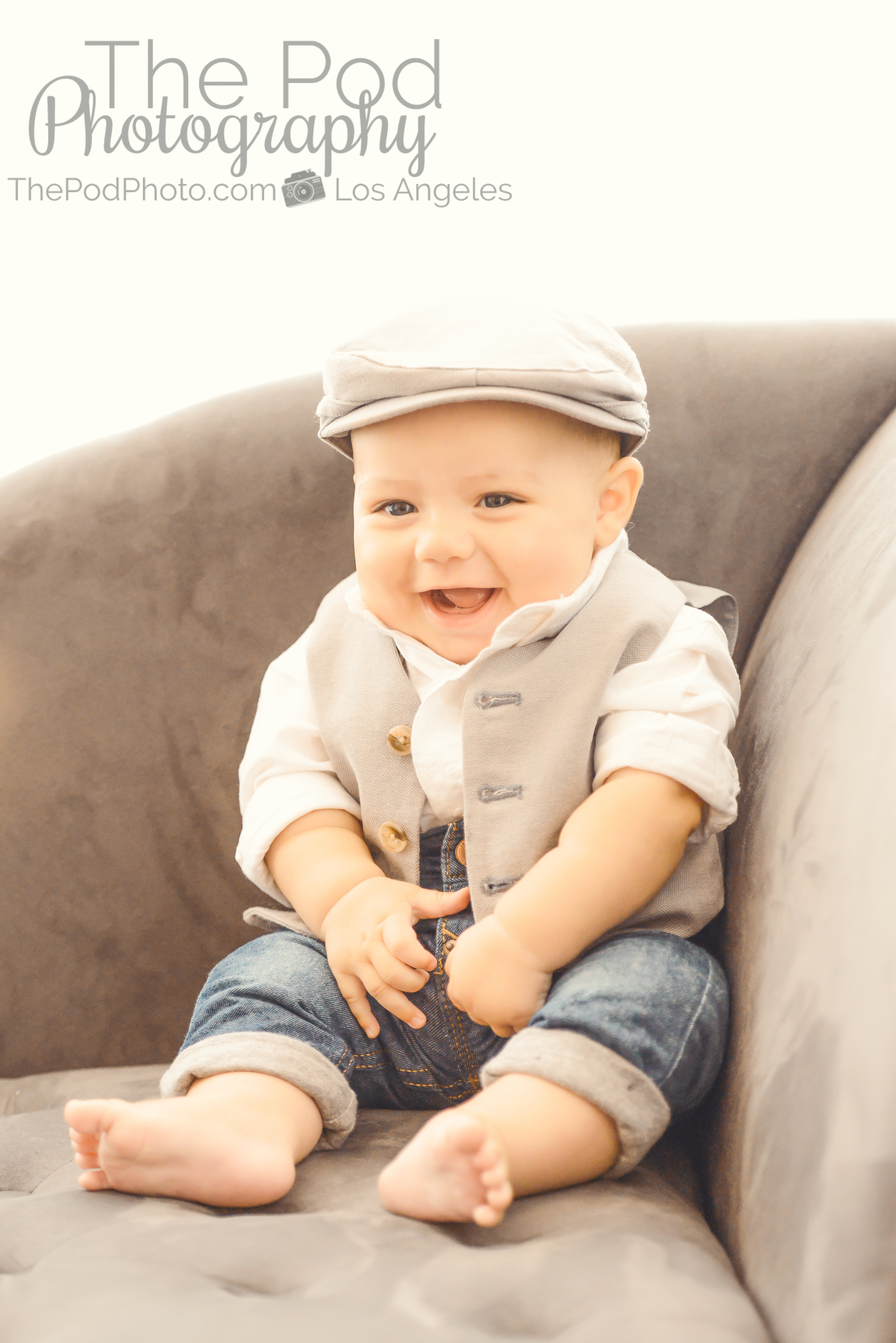 Stylish Baby Boy Outfit Portrait Studio West Los Angeles Los