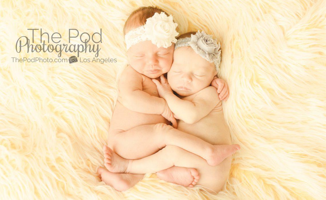 Los angeles newborn twins photographer