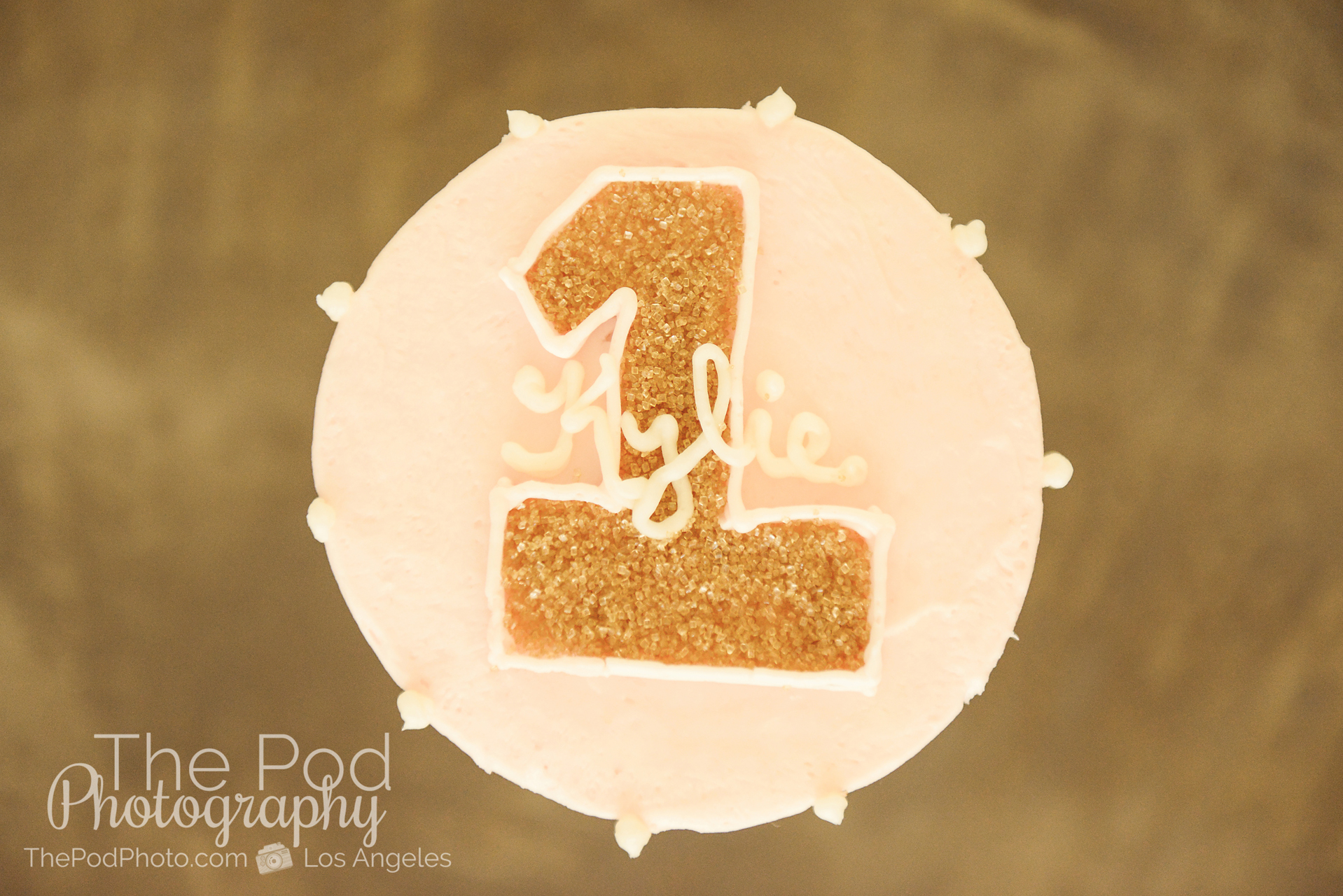 SusieCakes Custom Smash Cake Pink And Gold First Birthday Portraits