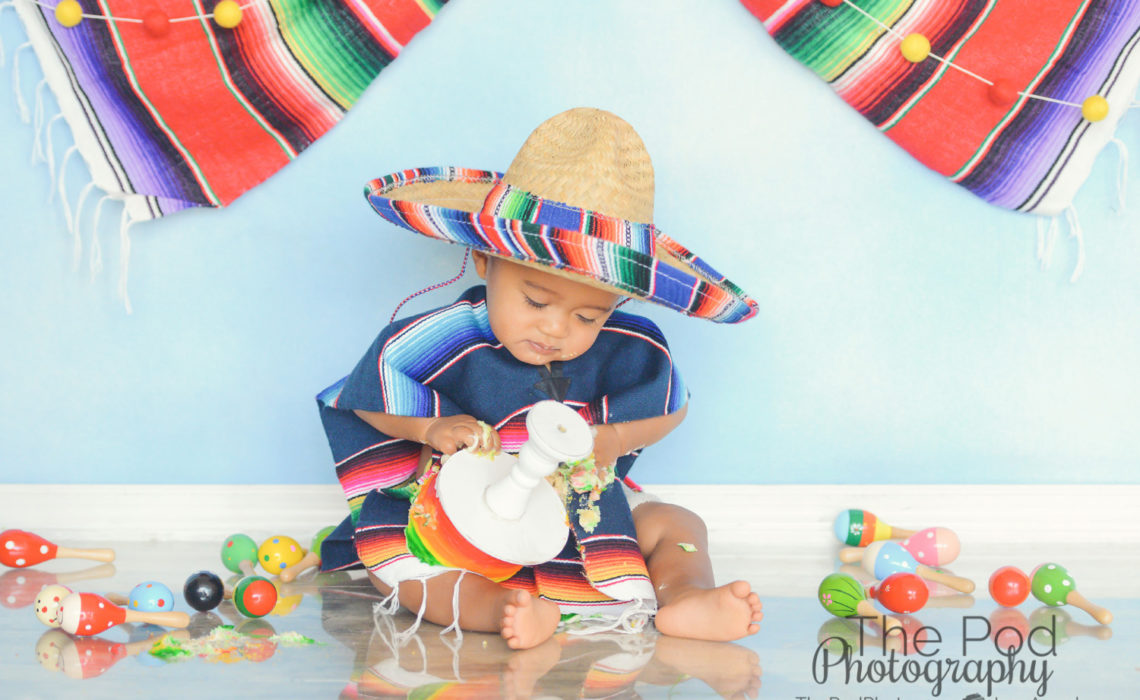 First Birthday Fiesta Themed Cake Smash Photography Los Angeles