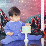 Space-first-birthday-theme-cake-smash-display-photos-westchester-california-photography-studio