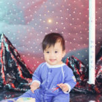 Best-Cake-Smash-Photography-Westchester-Los-Angeles-Outer-Space-Theme-First-Birthday-Party-SpaceX