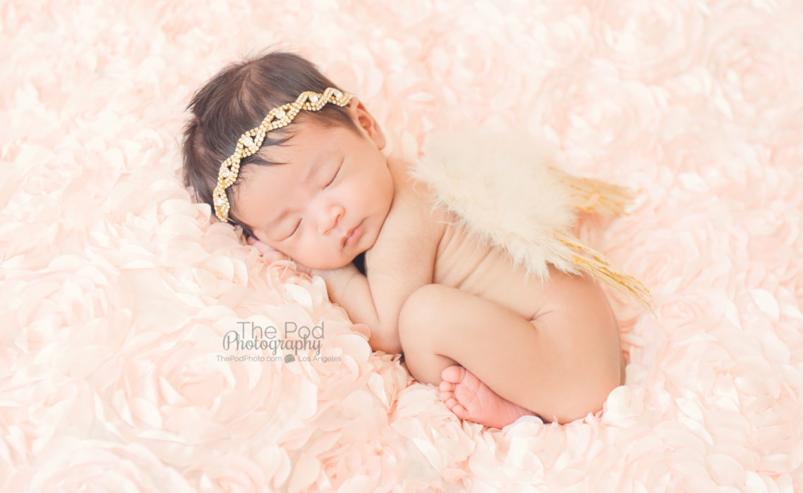 Hermosa beach newborn and baby photographer in studio and at home