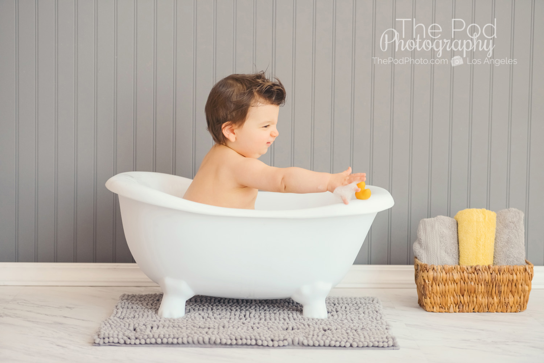 West LA Baby Photographer | Splash Sessions on Mini Bathtub Set ...