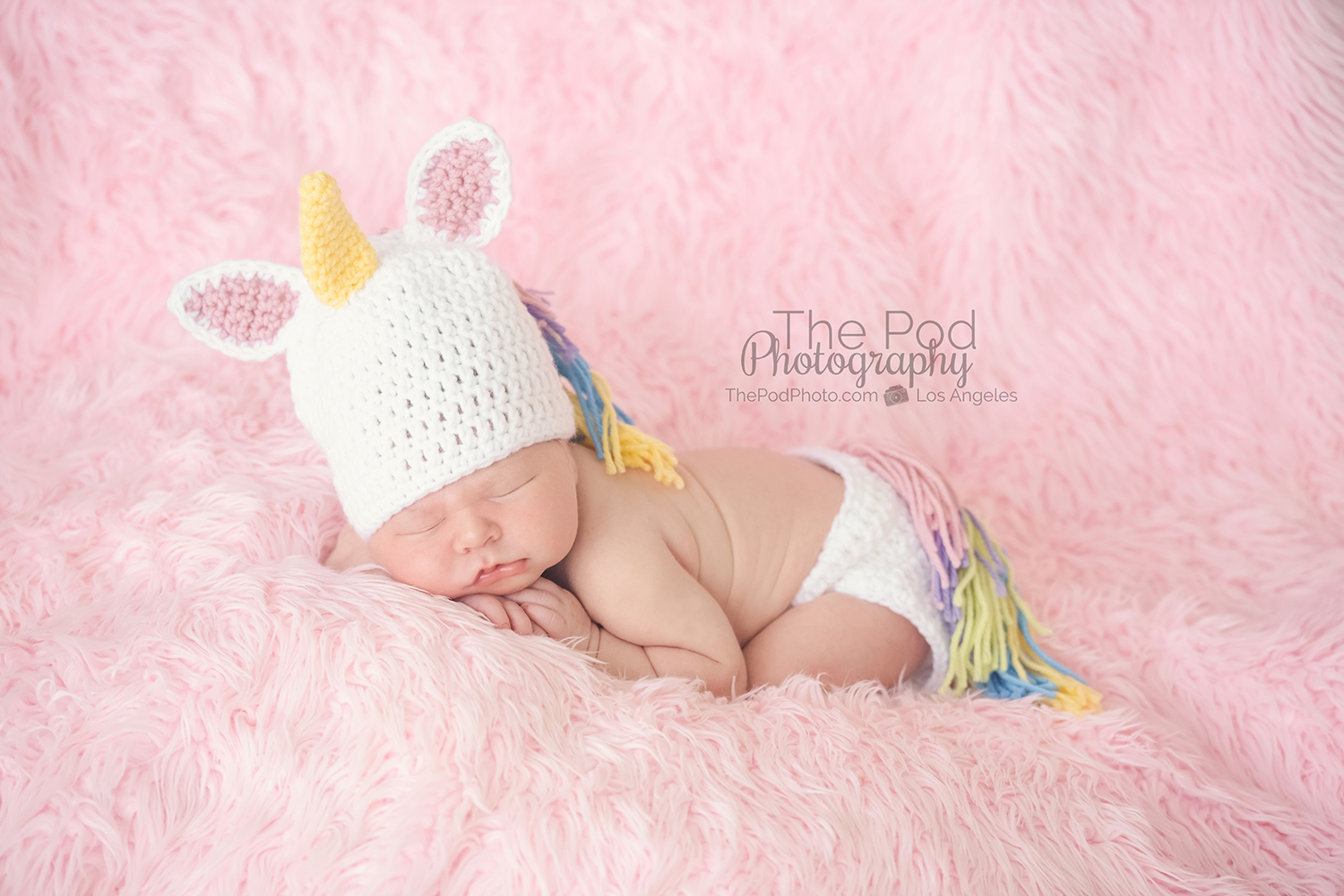 Unicorn newborn baby outfit los angeles photographer