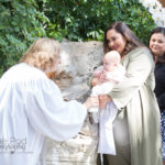 Four month baby getting baptized in iconic Los Angeles church Wayfarer's Chapel