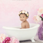 baby in a bathtub