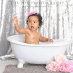 Beverly-Hills-Cake-Smash-Photography-Baby-In-A-Bathtub